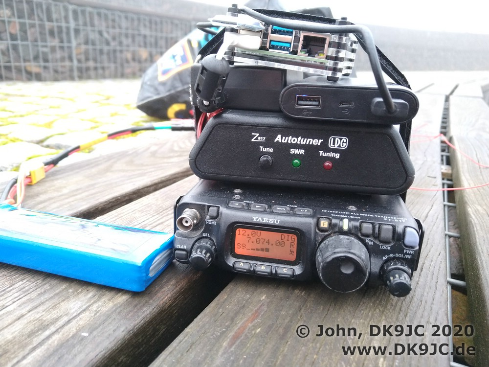 FT-817, Interface and Raspi4 in the rain