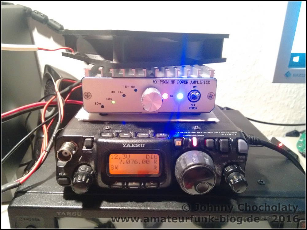 MX-P50M 50W HF PA for FT-817 and KX-3: How to use the amplifier on